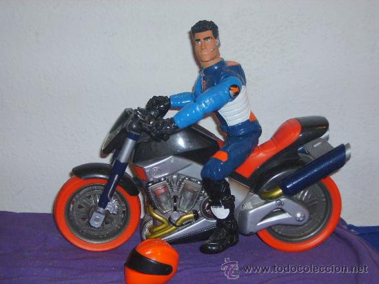 action man con moto comprar action man en todocoleccion 26749475. Black Bedroom Furniture Sets. Home Design Ideas