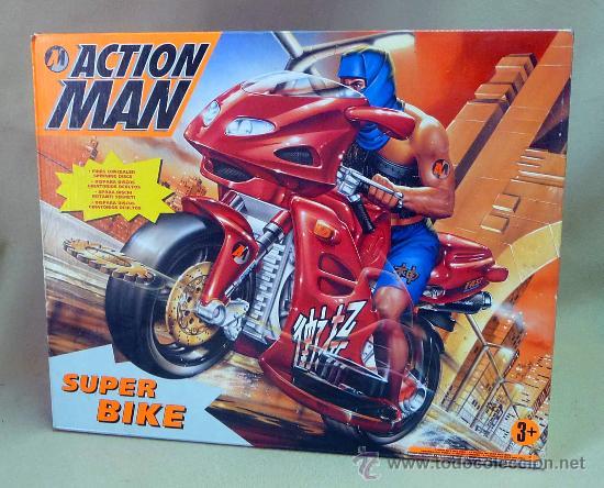 COMPLEMENTO, ACTION MAN, SUPER BIKE, MOTO NINJA, CASI SIN USO, (LEER DESCRIPCIÓN) (Juguetes - Figuras de Acción - Action Man)