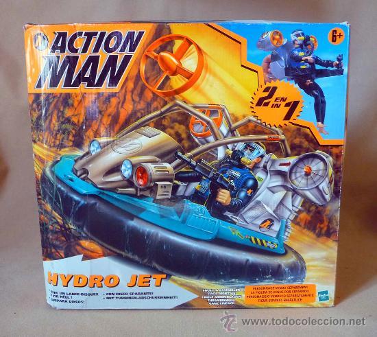 COMPLEMENTO, ACTION MAN, HYDRO JET, LANCHA, CASI SIN USO (Juguetes - Figuras de Acción - Action Man)
