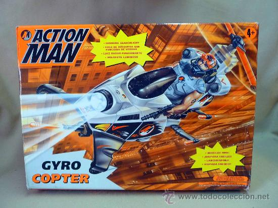 Action man: COMPLEMENTO, ACTION MAN, GYRO COPTER, HELICOPTERO, COMPLETO - Foto 1 - 27853368