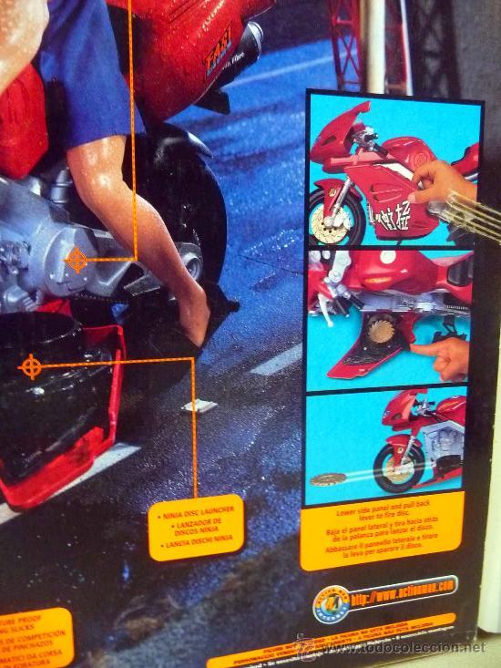 Action man: COMPLEMENTO, ACTION MAN, SUPER BIKE, MOTO NINJA, CASI SIN USO, (LEER DESCRIPCIÓN) - Foto 3 - 27827800