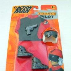 Action man: BLISTER CON TRAJE Y ACCESORIOS ACTION MAN RESCUE PILOT PILOTO DE RESCATE NUEVO MAGIC CARS AÑO 1998. Lote 37084461