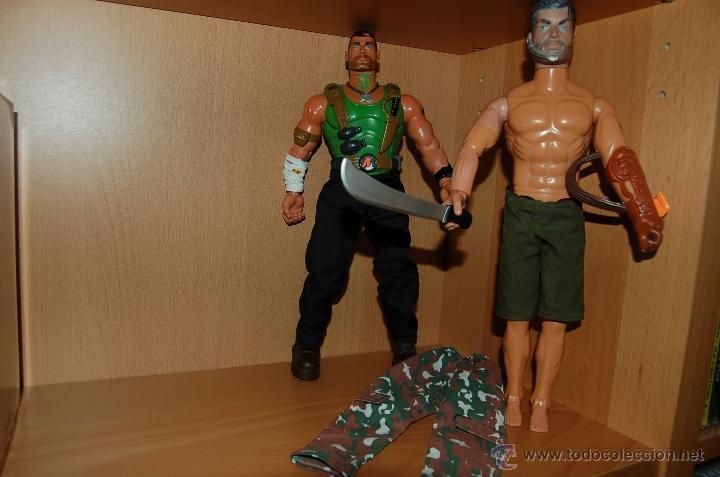 2 FIGURAS ACTION MAN (HASBRO 1996 - 2004) (Juguetes - Figuras de Acción - Action Man)