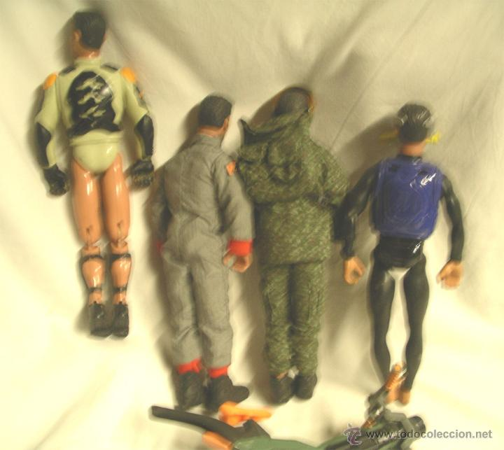 Action man: Lote 4 Figuras Action Man, regalo motocicleta - Foto 2 - 46072322