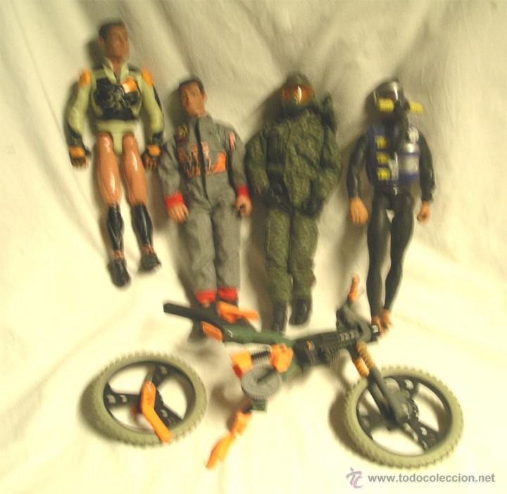 Action man: Lote 4 Figuras Action Man, regalo motocicleta - Foto 3 - 46072322