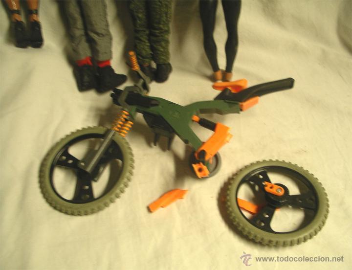 Action man: Lote 4 Figuras Action Man, regalo motocicleta - Foto 4 - 46072322