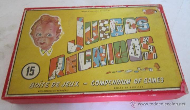 JUEGO DE MESA. JUEGOS REUNIDOS DEL 15, GEYPER, EN CAJA. MUY ANTIGUO. VV (Juguetes - Figuras de Acción - Action Man)