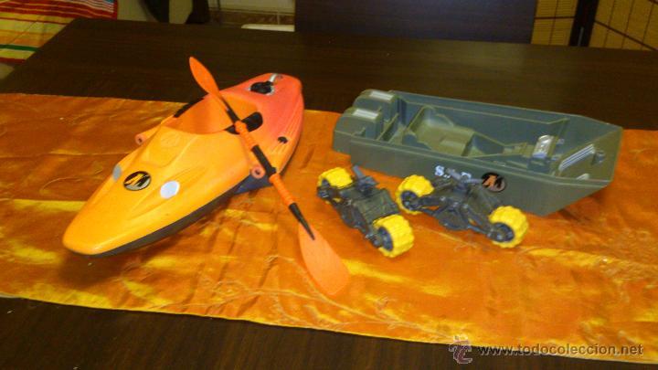 Action man: Lote de accesorios de action man,canoa ,ruedas y tanque. - Foto 2 - 46341746