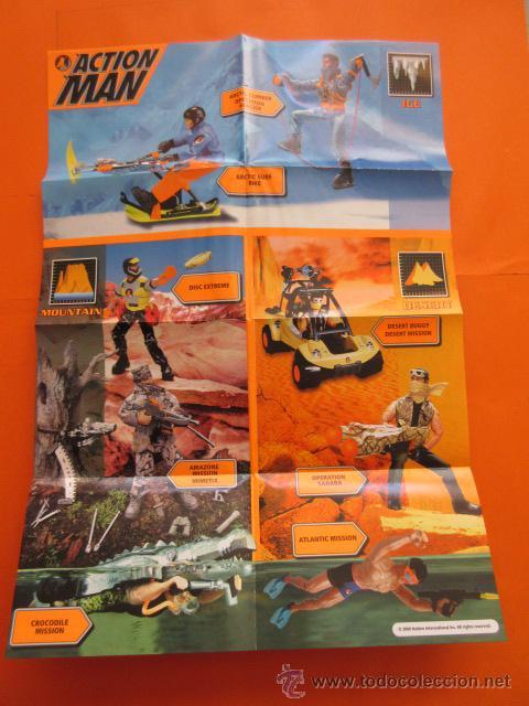 Action man: CATALOGO DESPLEGABLE ACTION MAN 2000 HASBRO ICE TOKYO TECH DESERT MOUNTAIN - Foto 2 - 50670910