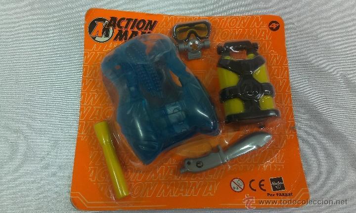 EQUIPO DE BUCEO PARA ACTION MAN. HASBRO 2001 (Juguetes - Figuras de Acción - Action Man)