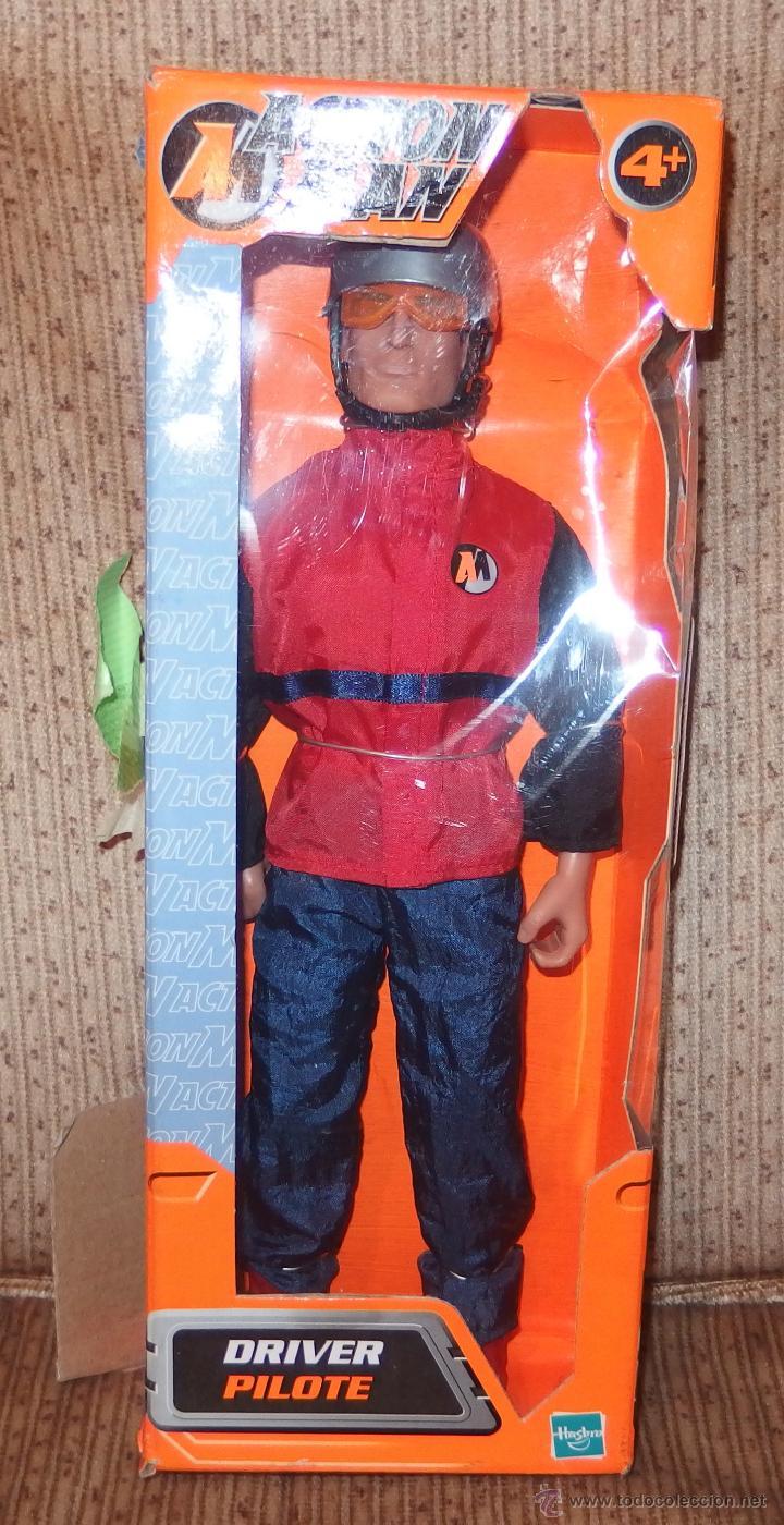 ACTION MAN DRIVER PILOT,HASBRO,CAJA ORIGINAL,2002,A ESTRENAR (Juguetes - Figuras de Acción - Action Man)