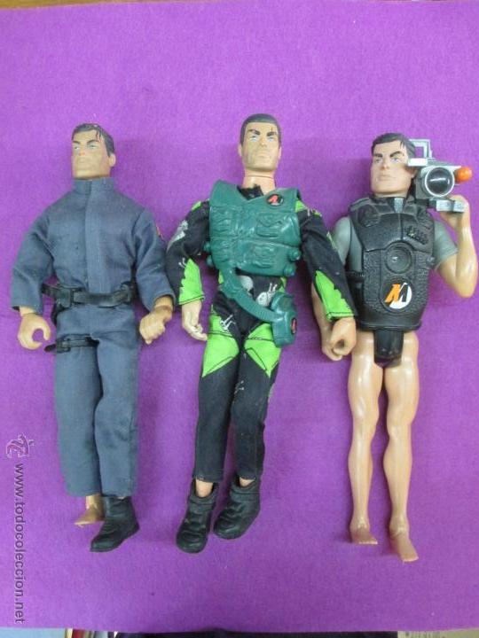 LOTE 3 MUÑECOS ACTION MAN, HASBRO 1998, VER FOTOS ADICIONALES (Juguetes - Figuras de Acción - Action Man)