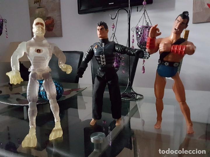 ACCIÓN MAN TRES MUÑECOS FIGURAS HASBRO (Juguetes - Figuras de Acción - Action Man)