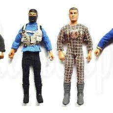 Action man: LOTE DE 4 MUÑECOS DE ACCIÓN ACTION MAN GI JOE SU ROPA ORIGINAL SNAKE EYES STALKER HASBRO 1992 - 1995. Lote 86112420