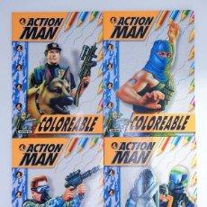 Action man: ACTION MAN COLOREABLE. LOTE DE 4 COLECCION COMPLETA SUSAETA, 1998. OFRT. Lote 105456592