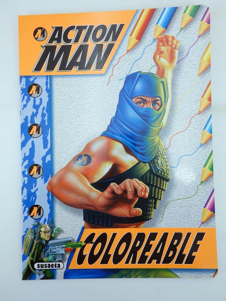 Action man: ACTION MAN COLOREABLE. LOTE DE 4 COLECCION COMPLETA Susaeta, 1998. OFRT - Foto 6 - 105456592