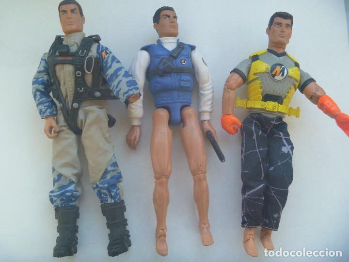 ACTION MAN : LOTE DE 3 FIGURAS ARTICULADAS (Juguetes - Figuras de Acción - Action Man)