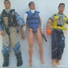 Action man: ACTION MAN : LOTE DE 3 FIGURAS ARTICULADAS . Lote 150095474
