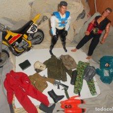 Action man: LOTE 1:6 FIGURAS, MOTO..ACTION MAN, GEYPERMAN, AVENTURA, CAMPAÑA, OFERTA. Lote 151133538