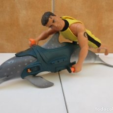 Action man: DELFIN ACTION MAN + ACTION MAN HASBRO 1999. Lote 97905955