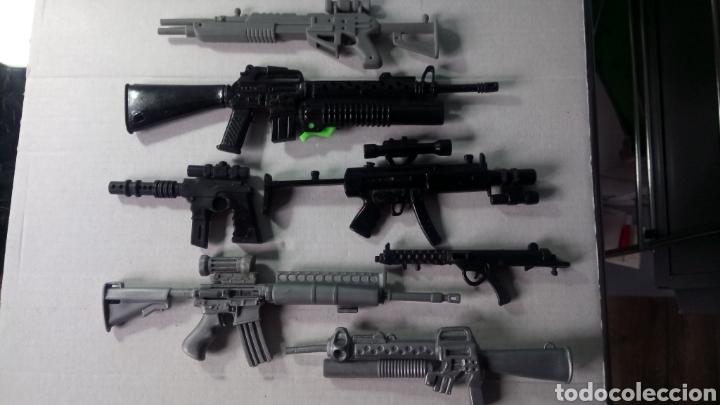 LOTE DE 7 ARMAS ACTION MAN. (Juguetes - Figuras de Acción - Action Man)