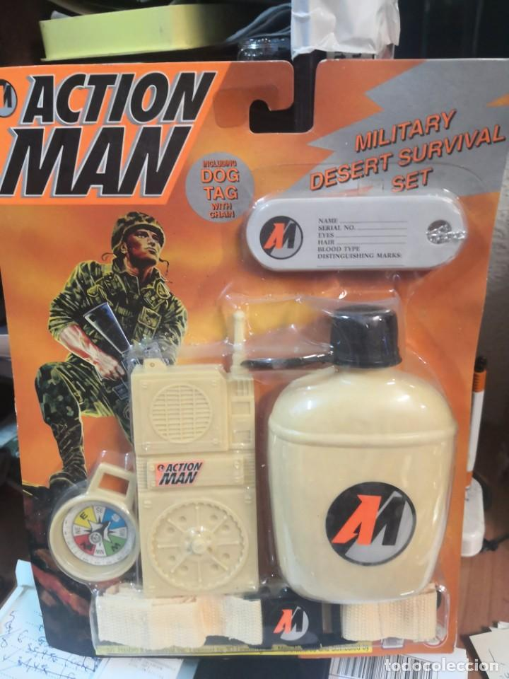 BLISTER SET ACTION MAN AÑO 1997 HASBRO INTERNACIONAL MILITAR SUPERVIVENCIA (Juguetes - Figuras de Acción - Action Man)
