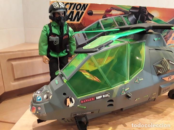 Action man: Maxicopter con piloto, en caja años 90, - Foto 2 - 197103407