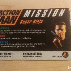 Action man: ACTION MAN_TARJETA MISSION SUPER NINJA_NUEVA!!!. Lote 200083288