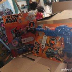 Action man: 2 BLISTER: PISTOLA FRICCION Y KIT GAFAS ACTION MAN ACCESORIOS AÑOS 90 HASBRO. Lote 208285625