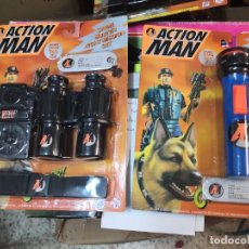 Action man: 2 BLISTER ACTION MAN CRIME BUSTER LINTERNA 4 COLORES Y NIGHT MISSION ( AÑO 1997 )HASBRO. Lote 208372670