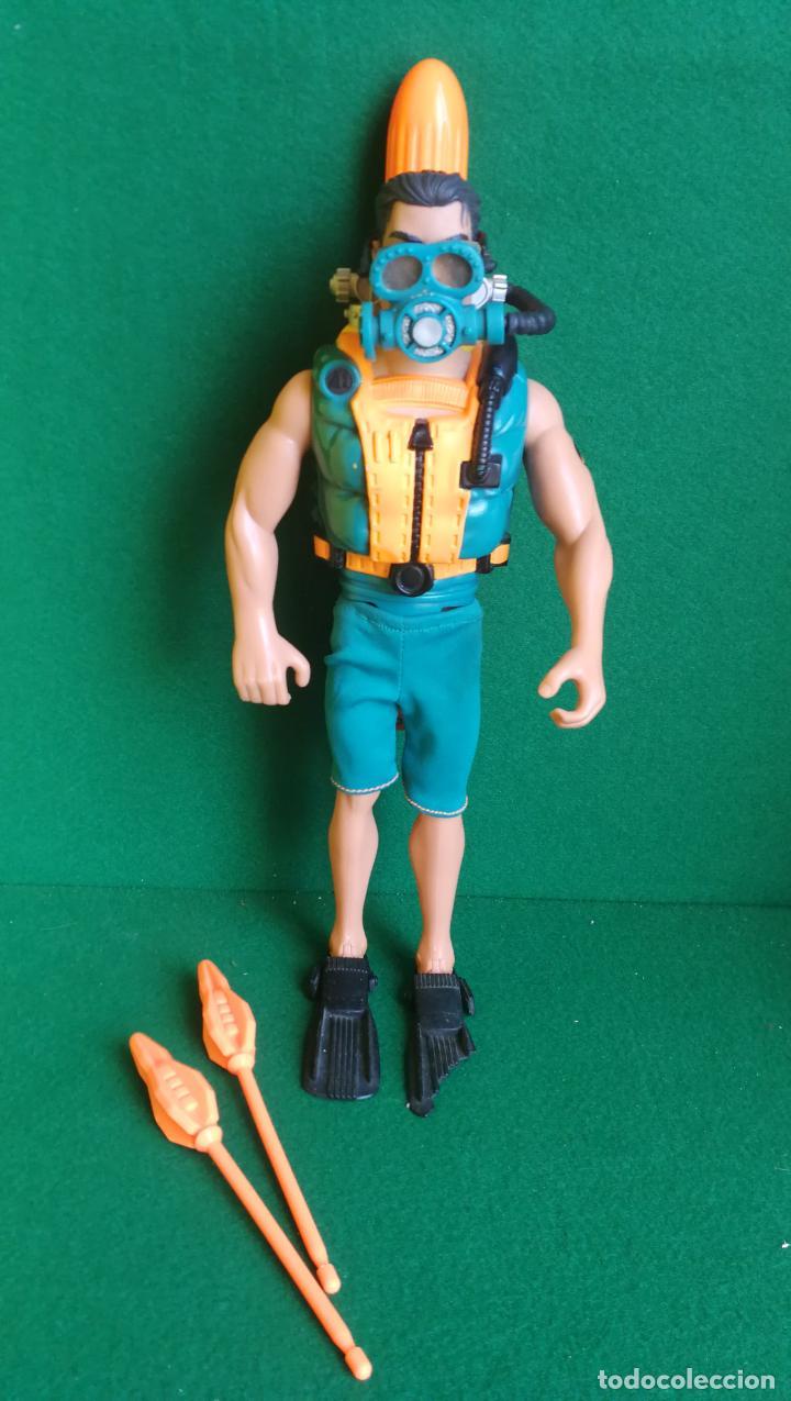 ACTION MAN HASBRO - AM 1999 - SUBMARINISTA HOMBRE RANA + TORPEDO - NO MADELMAN (Juguetes - Figuras de Acción - Action Man)