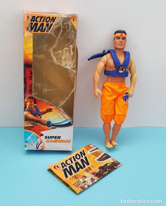 ACTION MAN SUPER SAMURAI HASBRO CON CAJA Y CATALOGO (Juguetes - Figuras de Acción - Action Man)