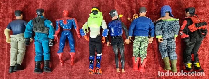Action man: COLECCION DE 7 MUÑECOS DE ACTION MAN HASBRO Y SPIDER MAN DE MARVEL. CIRCA 1990. - Foto 7 - 221088446