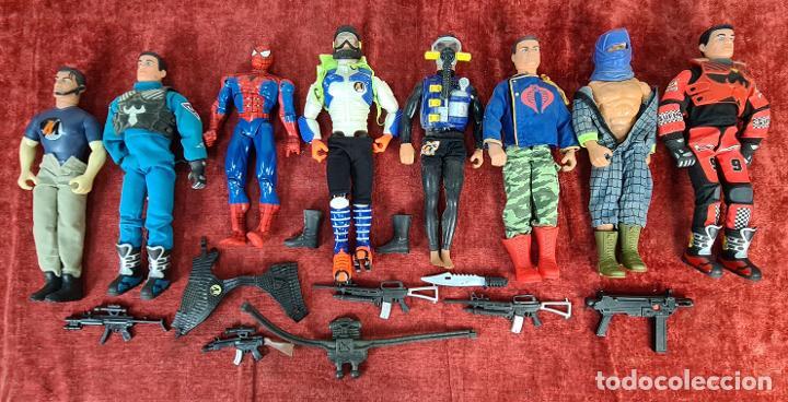 COLECCION DE 7 MUÑECOS DE ACTION MAN HASBRO Y SPIDER MAN DE MARVEL. CIRCA 1990. (Juguetes - Figuras de Acción - Action Man)