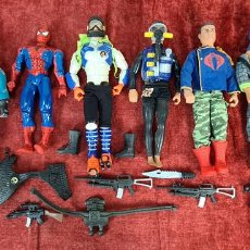 Action man: COLECCION DE 7 MUÑECOS DE ACTION MAN HASBRO Y SPIDER MAN DE MARVEL. CIRCA 1990.. Lote 221088446