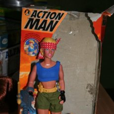 Action man: MUÑECA ACTION MAN NATALIE CON CAJA. Lote 221807900