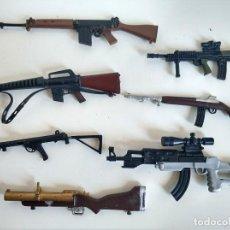 Action man: LOTE DE 7 RIFLES, AMETRALLADORAS, ARMAS ACTION MAN PALITOY - ANTIGUO. Lote 241484435