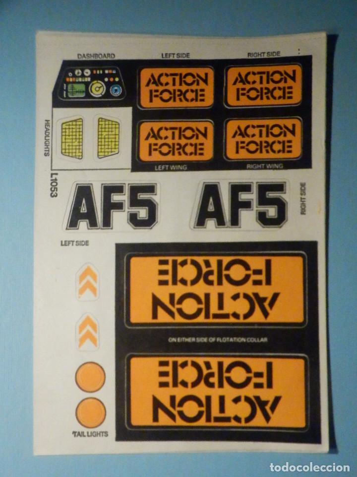 PEGATINAS - ADHESIVOS - STICKER - SET PARA JUEGO DE ACTION FORCE AF5 COCHE - MULTIVEHICULO COMANDO (Juguetes - Figuras de Acción - Action Man)