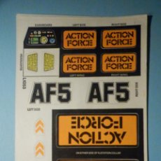 Action man: PEGATINAS - ADHESIVOS - STICKER - SET PARA JUEGO DE ACTION FORCE AF5 COCHE - MULTIVEHICULO COMANDO. Lote 251514955