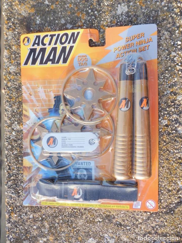 BLISTER SUPER POWER NINJA ACTION SET ACTION MAN, HASBRO 1997 (Juguetes - Figuras de Acción - Action Man)