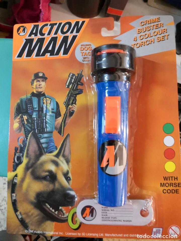 LINTERNA BLISTER AÑO 1997 ACTION MAN TAMAÑO REAL 4 COLORES (Juguetes - Figuras de Acción - Action Man)