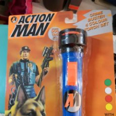 Action man: LINTERNA BLISTER AÑO 1997 ACTION MAN TAMAÑO REAL 4 COLORES. Lote 254512590