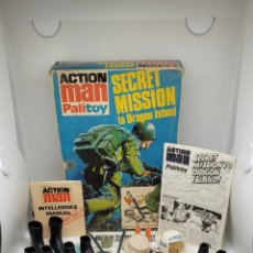 Action man: CAJA ACTION MAN SECRET MISSION TO DRAGO ISLAND. HASBRO. 1975. NO GEYPERMAN. NO GEYPER MAN.. Lote 275240018