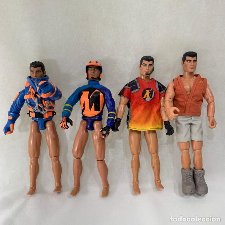 LOTE 4 ACTION MAN - 3 MUÑECOS - FALTAN PANTALONES (Juguetes - Figuras de Acción - Action Man)
