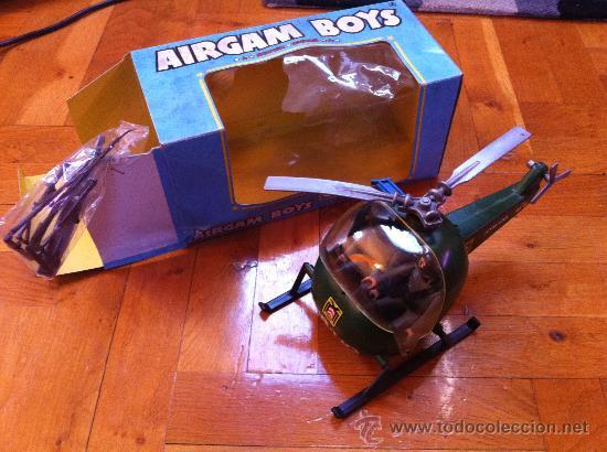AIRGAMBOYS REF 00218 HELICOPTERO MILITAR ALEMAN COMPLETO , AIRGAM BOYS CAJA PLASTICO ROTO (Juguetes - Figuras de Acción - Airgam Boys)