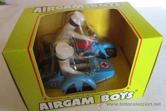 AIRGAM BOYS, MOTO AMBULANCIA CON SIDECAR, REF 244, EN CAJA. CC (Juguetes - Figuras de Acción - Airgam Boys)