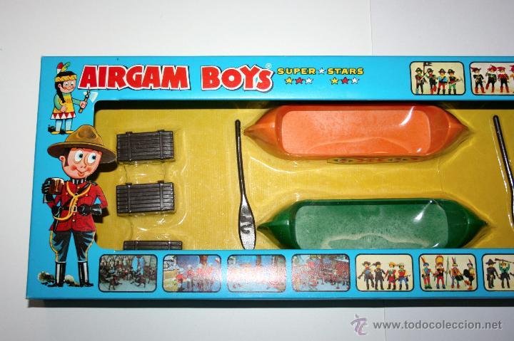 Airgam Boys: CAJA AIRGAMBOYS CANOAS INDIAS - ORIGINAL AÑOS 70, NUEVA A ESTRENAR - Foto 9 - 145521612