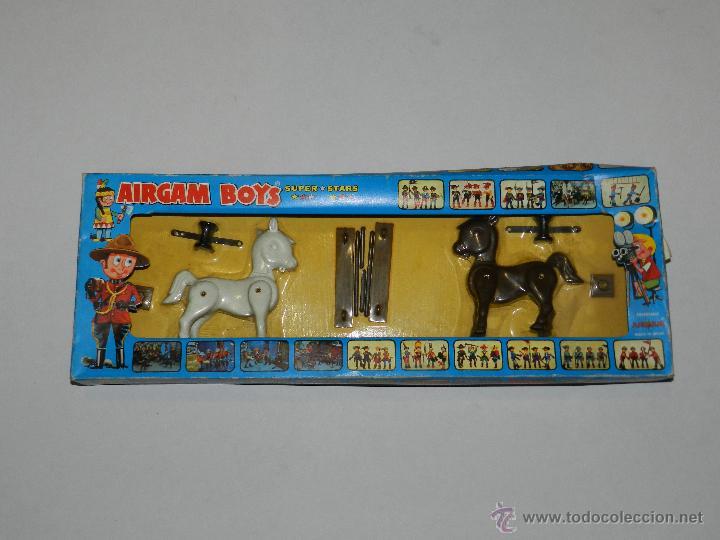 (M) AIRGAM BOYS REF 00012 2 CABALLOS , SUPER STAR , BUEN ESTADO , PEQUEÑAS ROTURITAS EN CAJA (Juguetes - Figuras de Acción - Airgam Boys)