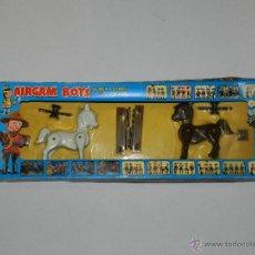 Airgam Boys: (M) AIRGAM BOYS REF 00012 2 CABALLOS , SUPER STAR , BUEN ESTADO , PEQUEÑAS ROTURITAS EN CAJA. Lote 42247356