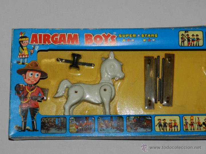 Airgam Boys: (M) AIRGAM BOYS REF 00012 2 CABALLOS , SUPER STAR , BUEN ESTADO , PEQUEÑAS ROTURITAS EN CAJA - Foto 2 - 42247356